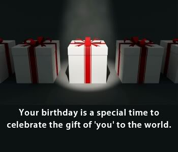 Your Birthday is a Special time to Celebrate the Gift of you to the World ~ Birthday Quote