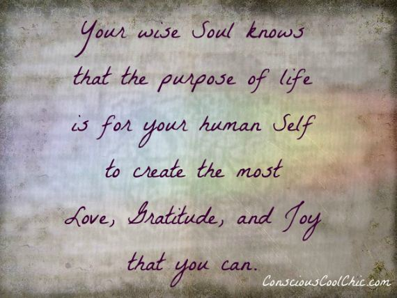 Your Wise Soul Knows that the Purpose of Life ~ Astrology Quote