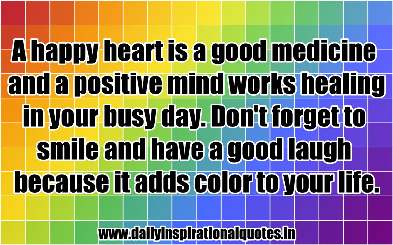 When Your Heart Is Happy Your Mind Is Free: Happy Healing Quotes. QuotesGram