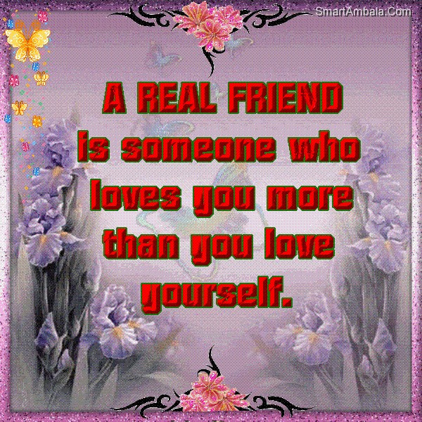 A real friend is someone who loves you more than you love yourself a real friend is someone who loves you more than you love yourself friendship quote thecheapjerseys Choice Image