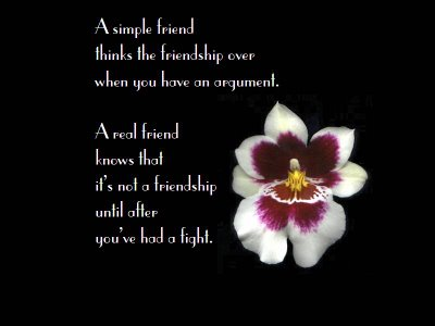 A Real Friend Knows that It's Not a Friendship Until You've had a Fight ~ Good Day Quote