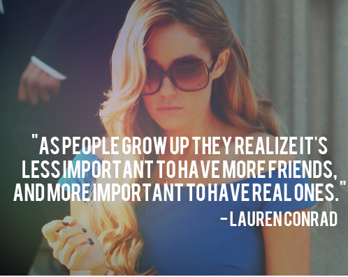 As People Grow Up They Realize It's Less Important To Have More