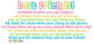 best friends underdstand when you say forget it friendship