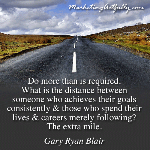 Do More than Is Required ~ Goal Quote