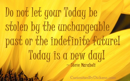 Exceptional Do Not Let Your Today Be Stolen By The Unchangeable Past Or The Indefinite  Future!