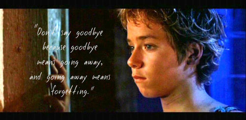 """Don't Say Goodbye because Goodbye Means Going Away and Going Away Means Forgetting"" ~ Goodbye Quote"