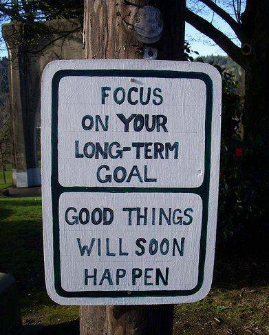 Focus On Your Long Term Goal,Good Things Will Soon Happen ~ Get Well Soon Quote