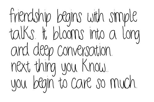 ... .com/friendship-beings-with-simple-talks-friendship-quote