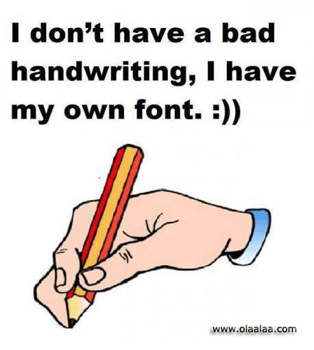 bad handwritting funny