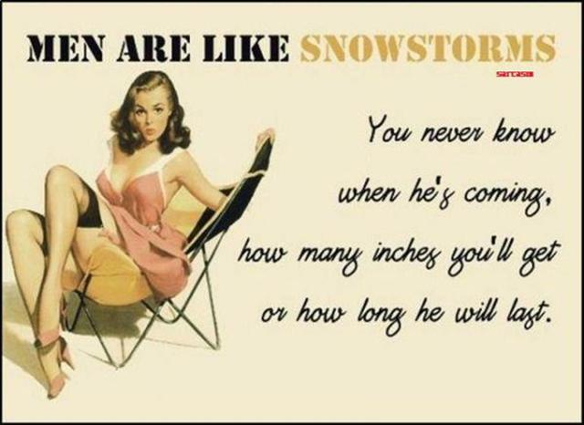 Men Are Like Snowstorms Funny Quote Html Code For The Graphic