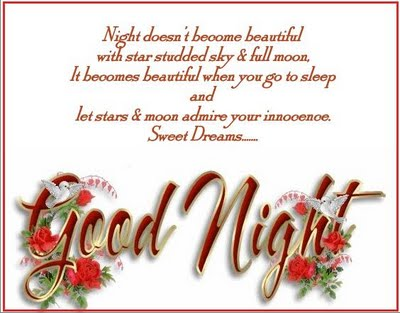 Night Doesn't Become Beautiful with Star Studded Sky & Full Moon ~ Good Night Quote
