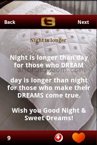 Night Is Longer than Day for those Who Dream,Day Is Longer than night for those who make their Dreams Come True  ~ Good Night Quote