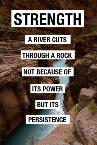 strength a river cuts through a rock not because of its