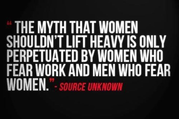 The Myth That Women Shouldn\'t Lift Heavy Is Only Perpetuated ...
