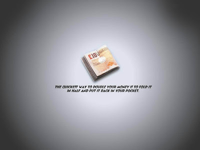 The Quickest Way Double Your Money Funny Quote