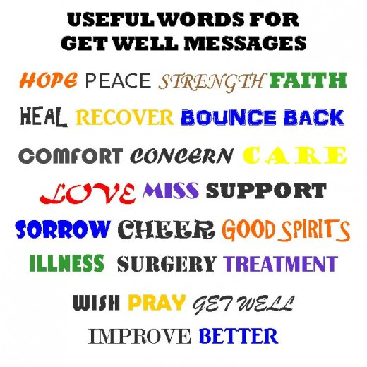 useful words for get well messages get well soon quote