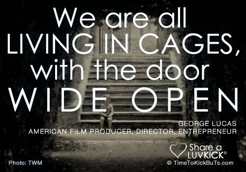 We are all Living In Cages,with the Door Wide Open ~ Goal Quote