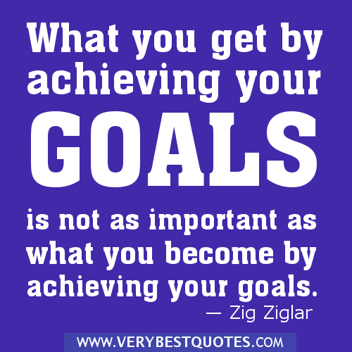 What You get By Achieving Your Goals Is Not As Important as What You Become by Achieving Your Goals ~ Goal Quote
