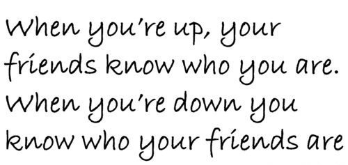 friendship up and down quotes