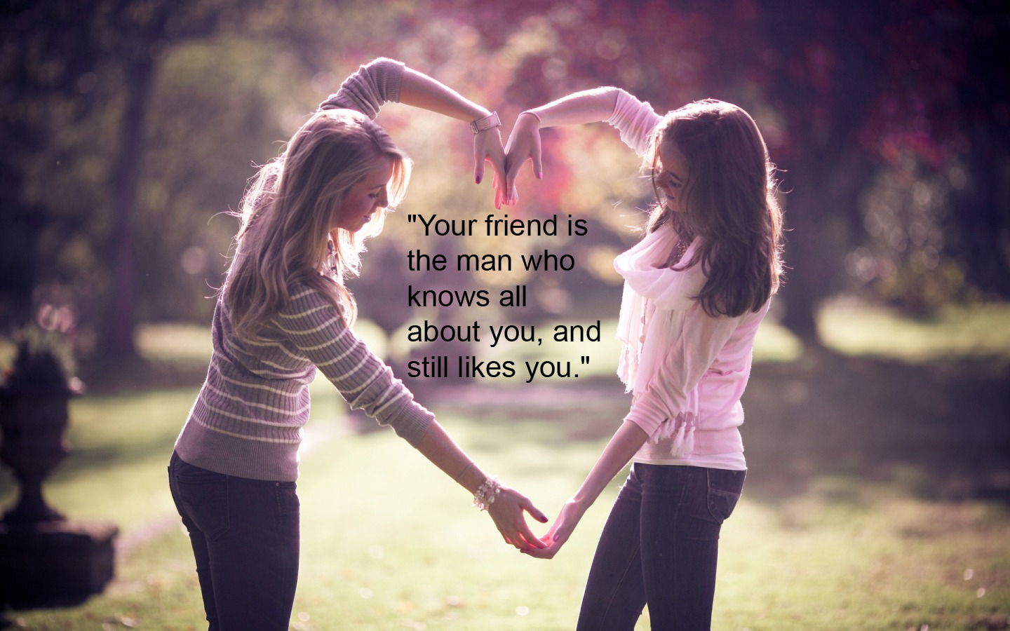 """Your Friend Is the Man Who Knows All About You ,and Still Likes You ~ Friendship Quote"