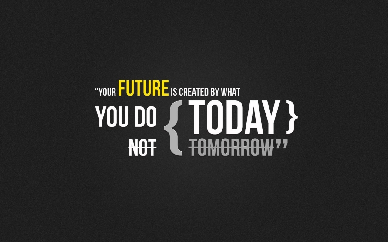 Your Future Is Created By What You Do Today ~ Future Quote