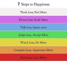 7 Steps to Happiness ~ Joy Quote