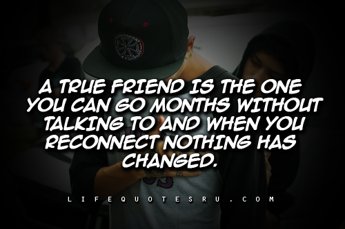 A True Friend Is The One You Can Go Months Without Talking