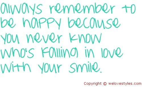smilehappy looks good on you happiness quote quotespicturescom