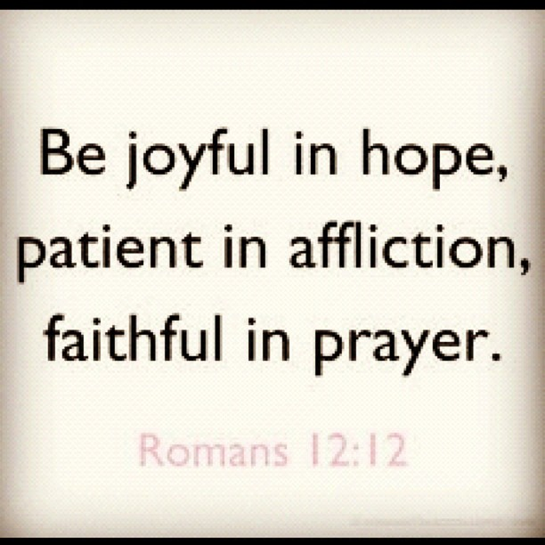 Hope And Faith Quotes Magnificent Be Joyful In HopePatient In AfflictionFaithful In Prayer Hope