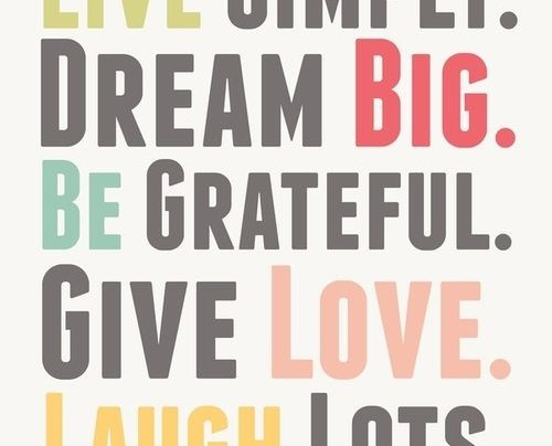 dream big be grateful give love life quote com