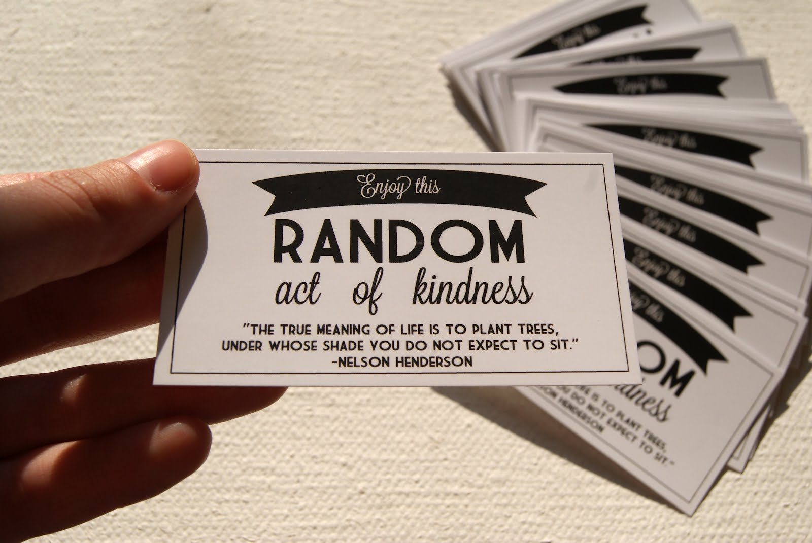Enjoy This Random Act of Kindness ~ Kindness Quote