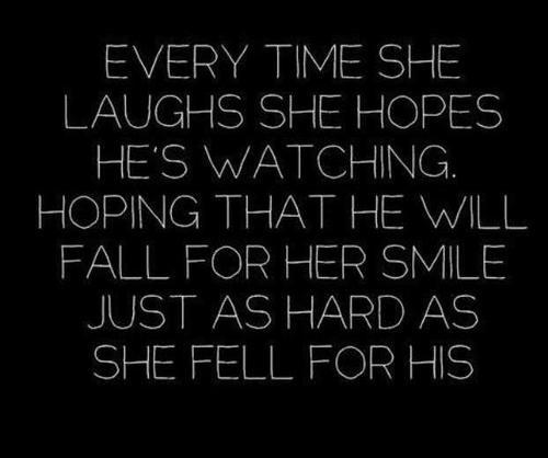 Love Quotes For Him About His Smile : ... Smile Just As Hard As She Fell For His ~ Love Quote Love Quotes