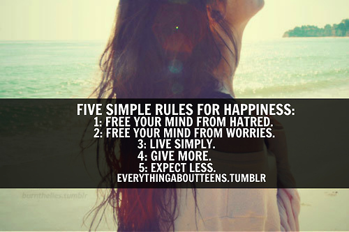 When Your Heart Is Happy Your Mind Is Free: 5 Simple Rules For Happiness,1 Free Your Heart From Hatred