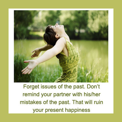 forget issues of the past don t remind your partner his her