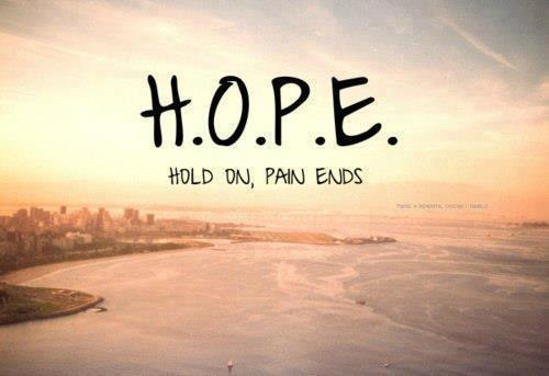 Full Form Of Hopehold On Pain Ends Hope Quote Quotespictures