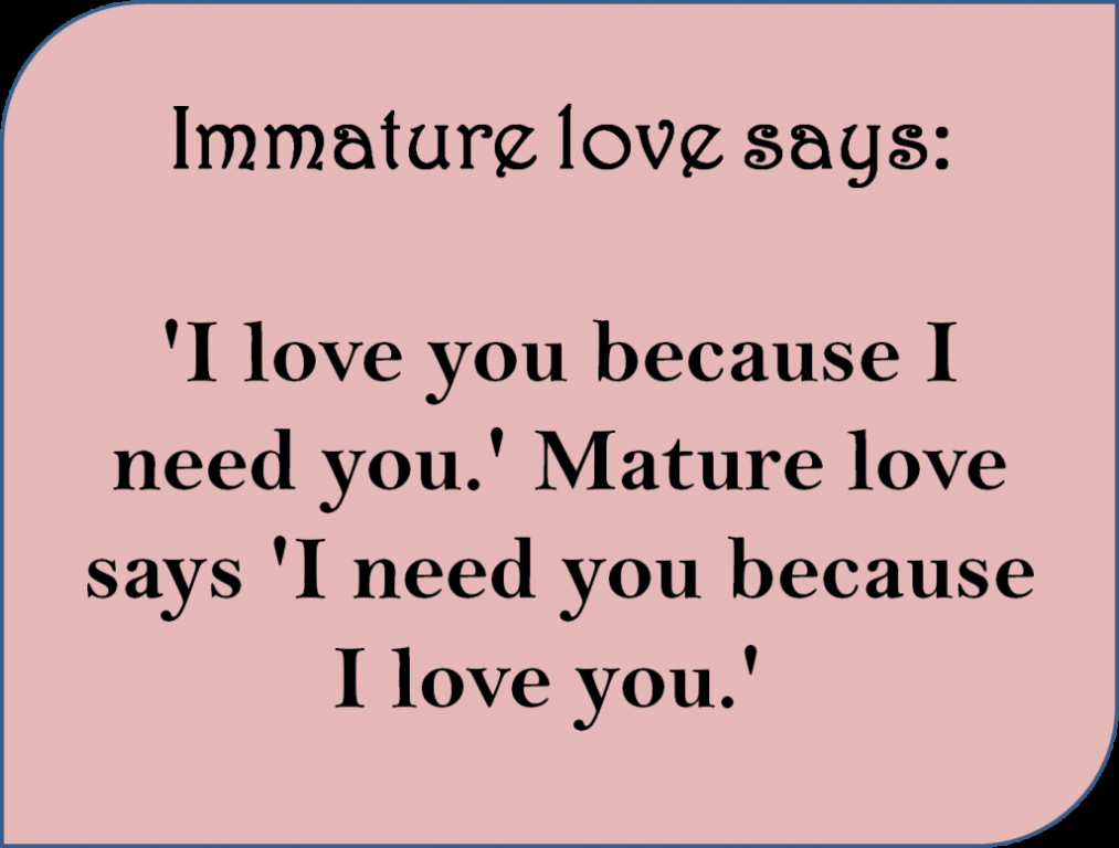 Mature love says