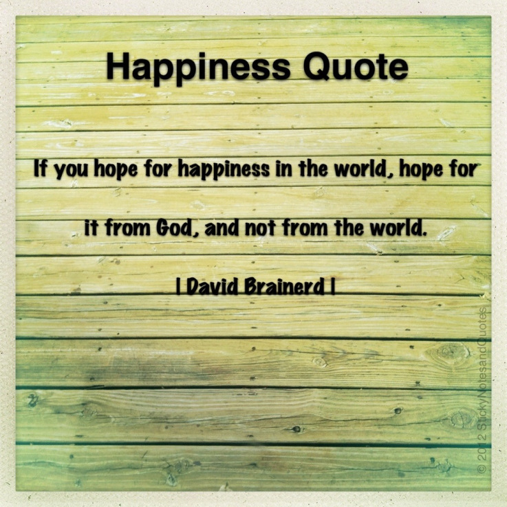 If You Hope For Happiness In The Worldhope For It From Godand Not