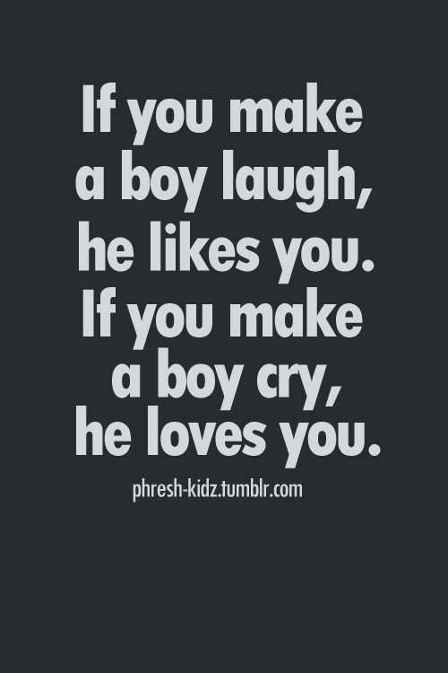 He likes you if