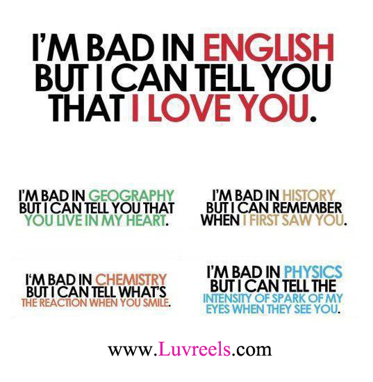 ... English But I Can Tell You That I Love You ~ Life Quote Life Quotes