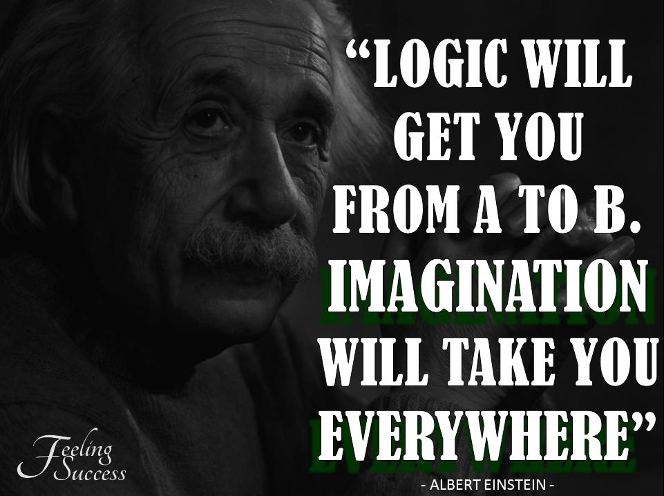 Logic Quote Will Get You From A To Z Imagination Will Get You