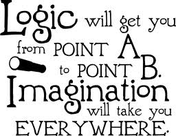 Logic Will Get You From Point A to Point B.Imagination Will Take You Everywhere ~ Imagination Quote