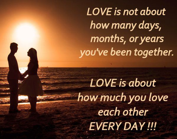 love is not about how many days months or years you ve