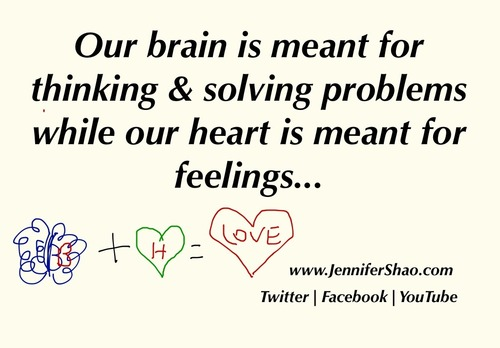 ... Solving Problems While Our Heart Is Meant For Feelings ~ Love Quote