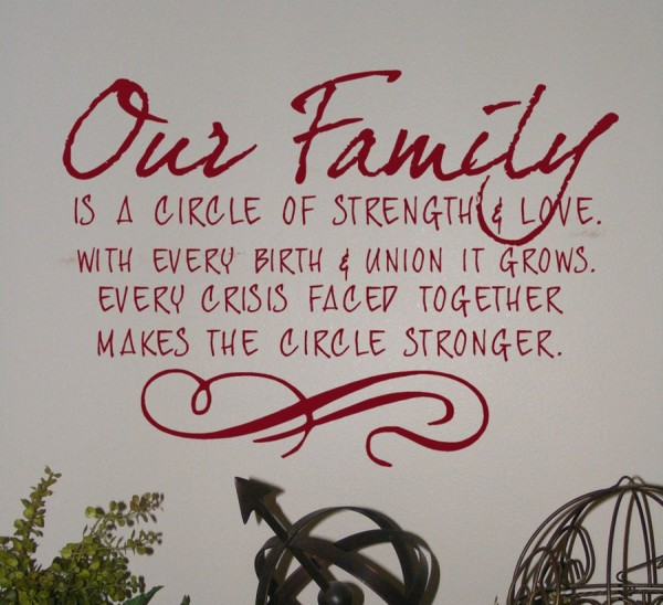 ... .Every Crisis Faced Together Makes The Circle Stronger ~ Life Quote