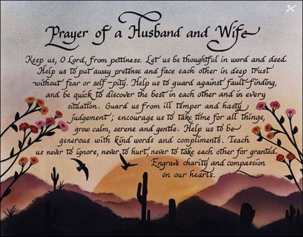 Romantic Quotes From Husband To Wife: Prayer Of A Husband And Wife