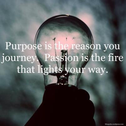 Purpose Is The Reason You Journey.Passion Is the Fire that Lights Your Way ~ Life Quote