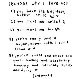 Reasons Why I Love You ~ Love Quote
