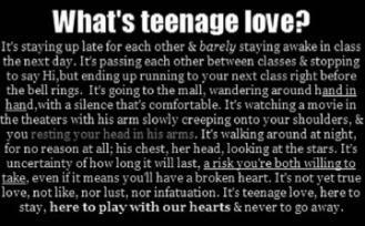 What\'s Teenage Love! ~ Love Quote - Quotespictures.com