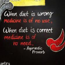 When Diet Is Wrong Medicine Is of No Use,When Diet Is Correct Medicine Is of No Need ~ Health Quote