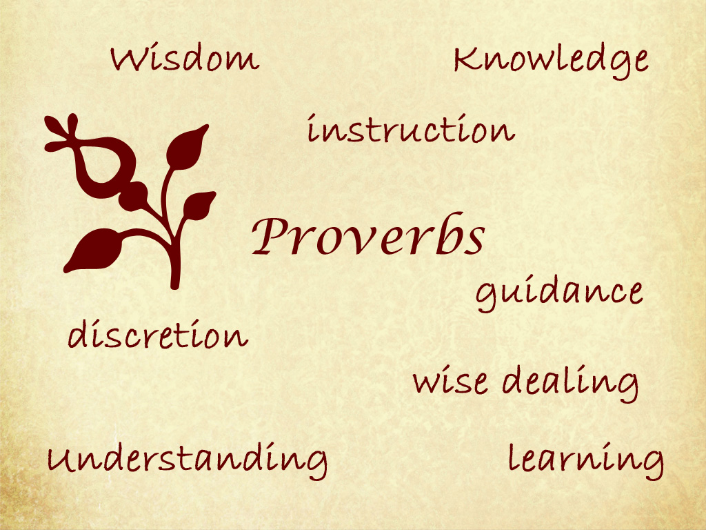 Wisdom Knowledge Instruction Proverbs Discretion Guidance Wise